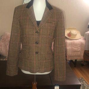 Chaps - classy brown tweed equestrian jacket.